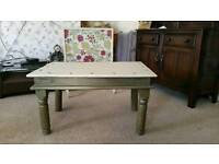 Shabby chic solid wood coffe table