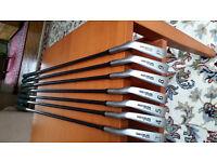 Golf Clubs - Set of Wilson Firestick Irons - Graphite Shafts - Very good condition