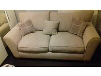 2 and 3 seater beige sofa