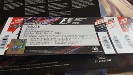 2 Silverstone club corner weekend tickets for formula 1 in july