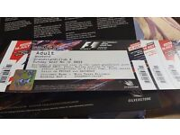 2 Silverstone club corner weekend tickets for formula 1 in july