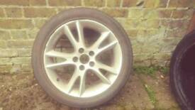 Saab /Vauxhall 17 inch alloy wheels and tyres