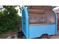 Mobile Catering Trailer Burger Van Sweets Trailer Hot Dog Ice Cream Cart 2300x1650x2300 Ready To Go
