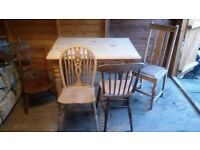 Solid pine carved kitchen dining table