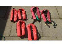 6 x Lifejackets 4x Seapro 2 x XM quickfit