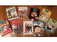 DVDs Family Guy, Modern Family, Ted, Gavin and Stacey
