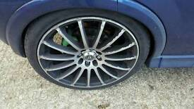 """17"""" wolfrace alloy wheels and tyres 4x100 4x108"""