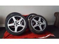 Mercedes 5 spoke alloys with tyres