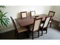 DINING TABLE WITH 6 CHAIRS REDUCED