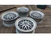 "19"" Rial Daytona Wheels ( BBS RS LM Splits Dish VW Audi Seat Alloys Rims 5x100)"