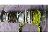 Assorted electrical cables