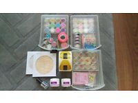 Bundle of nail art decorations and acc