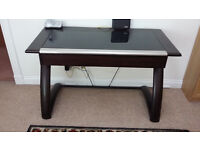 Contemporary Glass Top Desk for Home Office