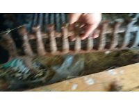 large iron fire basket grate