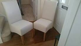 High back Fabric Dining Room Chairs x2
