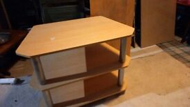 tv stand light brown wood