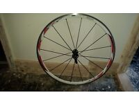 Front 700c bicycle wheel.