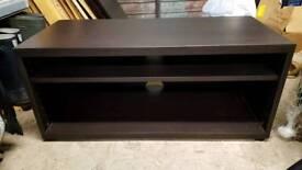 Ikea Mosjo tv unit/bench black/brown