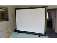 """60"""" Floor standing projector screen. Brand new in box."""