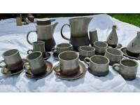 Beautiful retro Purbeck pottery tableware set