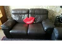 Free leather brown sofa