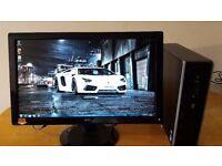 "SALE SAVE £50 :HP 8100 Elite Business PC Desktop Tower & AOC Widescreen 24""LCD LAST ONE"