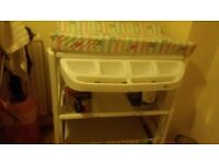 Baby changing table with bath £25 ono