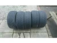 5x nankang ns2 tyres 205/40/17