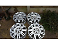 4x alloy wheels for rord focus mondeo galaxy fiesta and other 5 stud