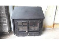 Log burner Hunter herald 8kw with back boiler