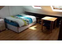 Studio pour famille (1 lit double + 1 lit enfant) + douche et toilets prive