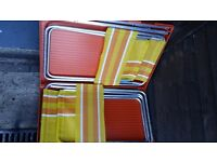 LOOK RARE 1960S VW CAMPER VAN PICNIC TABLE AND 3 CHAIRS,ALL FOLD INTO TAB LE £25.00 BARGAIN