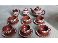MOROCCAN STYLE RUSTIC TEA SET NEVER USED AS NEW