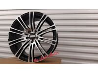 "K11* 4X NEW 18"" INCH ALLOYS ALLOY WHEELS BLACK 5X108 FORD RENUALT VOLVO CITREON JAGUAR PEUGEOT R18"