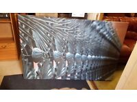 Huge Canvas Print of Iron Railings in Good Condition