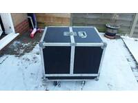 Large flight case on wheels