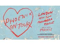2 x Phoenix tickets at Ally Pally Sat 30th Sept