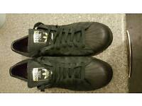 Size 8.5 adidas superstars trainers