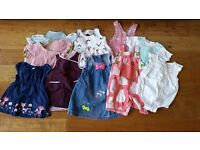 Baby Girl Clothes Bundle - size 6-12m (6-9m, 9-12m, and 6-12m clothing)