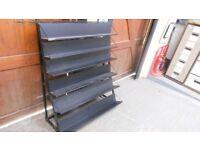 steel metal 6 shelf adjustable shelving unit . 54 ins high x 46 ins wide. ideal workshop, garage