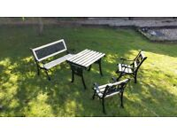 UNIQUE CHILDRENS CAST IRON GARDEN FURNITURE REFURBISHED