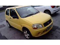 Suzuki Ignis, 1.3 Petrol, manual, 3 door hatchback, 2002 in yellow, low miles and 12 months MOT!!!