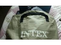 Intex double air bed