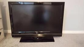 "37"" LG TV WITH SOUND BAR AND SUB"
