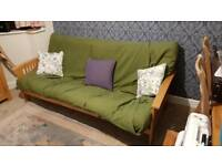 Wooden Futon/Sofa Bed