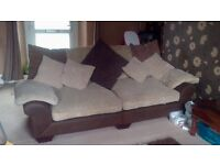 Large dfs 4 & 2 seat sofas with ottoman