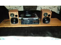 Record player stereo set