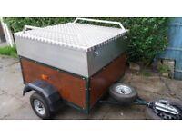 Camping Trailer Custom made lockable alloy lid
