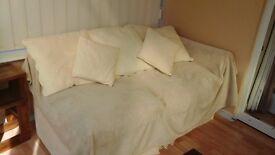 Sofa.Cream cotton. 2 seater