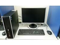 HP 8000, Intel Core 2 DUO 2.93GHz, 4GB, 250GB HDD, Windows 7 + monitor 19'' or 20''